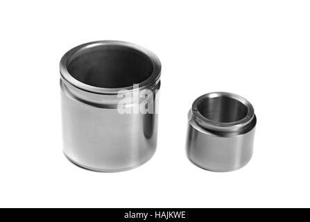 Brake cylinders, isolate on a white background, studio - Stock Photo