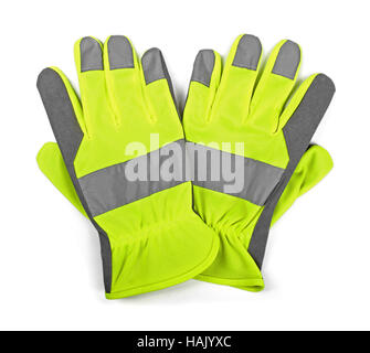 protective work gloves isolated on white - Stock Photo