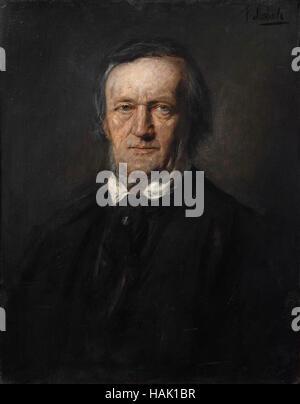 Franz von Lenbach (1836-1904), Portrait of Richard Wagner, 1895. - Stock Photo