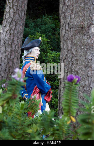 Statue of Nelson, Portmeirion Village, Gwynedd, North Wales UK - Stock Photo