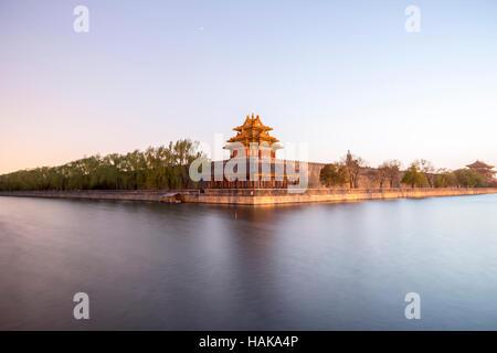 Watchtower, Forbidden City, Beijing, China - Stock Photo