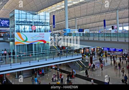 Hong Kong international airport China - Stock Photo