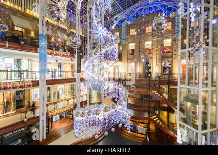 Princes Square Glasgow christmas decorations 2016 - Stock Photo