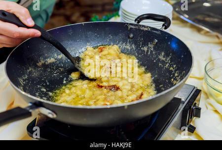 Batter fried kerala snack  bananas - Stock Photo