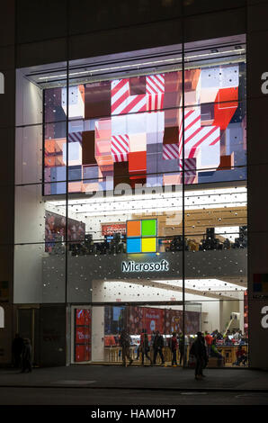 Microsoft store on Fifth Avenue in New York City - Stock Photo