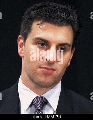 March 21, 2016 - Havana, Cuba - Brian Chesky, co-founder and CEO of Airbnb, participates in a press briefing following - Stock Photo