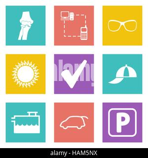 Icons for Web Design and Mobile Applications set 13. Vector illustration. - Stock Photo