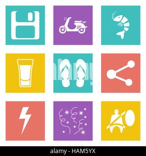 Color icons for Web Design and Mobile Applications set 27. Vector illustration. - Stock Photo