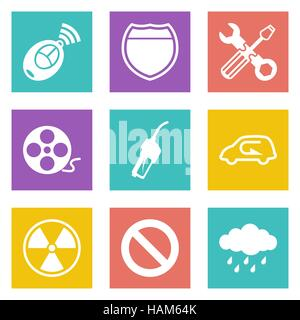 Color icons for Web Design and Mobile Applications set 37. Vector illustration. - Stock Photo