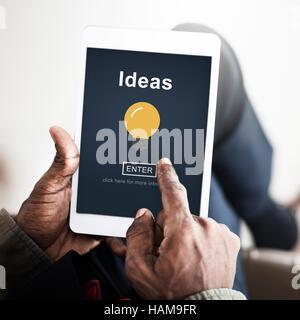 Ideas Creative Thinking Strategy Bulb Concept - Stock Photo