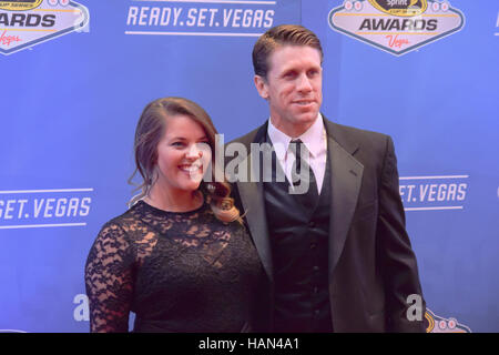 Las Vegas, USA. 02nd Dec, 2016. Carl Edwards walks the red carpet at the NASCAR Awards on December 2nd 2016 at the - Stock Photo
