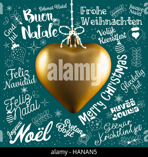 Danish language in the languages of the world vector travel stock merry christmas greetings card from world in different languages with golden heart calligraphic text and m4hsunfo