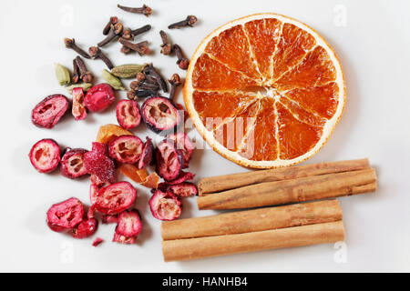Set spices for mulled wine - Stock Photo