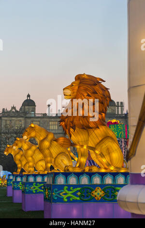 Christmas Festival of Light at Longleat to celebrate the Safari Park's 50th anniversary with the theme of Beatrix - Stock Photo
