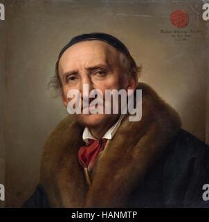 Julius Hübner (1806-1882), Portrait (1832) of Johann Gottfried Schadow (1764–1850).
