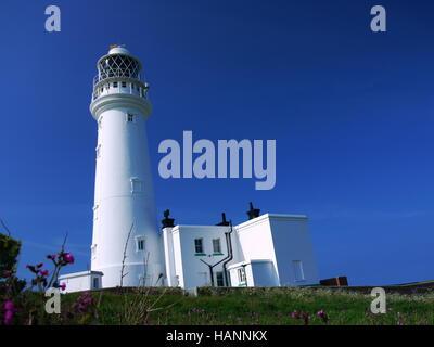 Flamborough Head Lighthouse East Yorkshire,UK. - Stock Photo