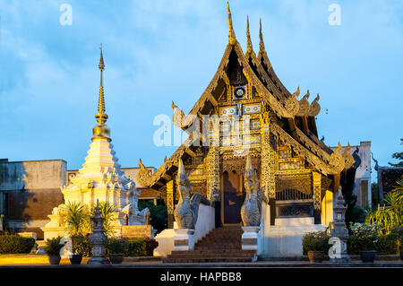 Bucha Sao Inthakin inside the Wat Chedi Luang temple grounds, Chiang Mai, Thailand - Stock Photo