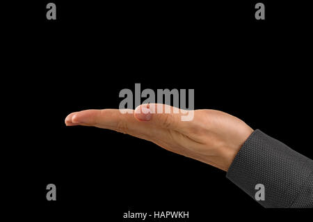 Outstretched Open Hand - Stock Photo