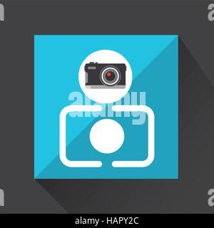 retro camera photographic vector illustration eps 10 - Stock Photo