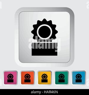 Canned. Single flat icon on the button. Vector illustration. - Stock Photo