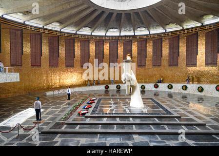 Hall of Military Glory. Memorial complex Mamayev Kurgan. Volgograd, Russia - Stock Photo