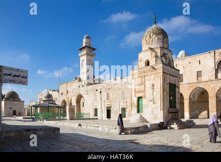 JERUSALEM, ISRAEL - MARCH 5, 2015: The look from the Temple Mount to west in morning light. - Stock Photo