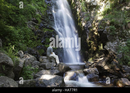 Todtnauer Waterfalls in the Black Forest - Stock Photo