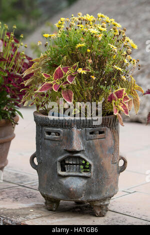 Just flowerpot flower pot made of clay container brown for Fancy flower pots
