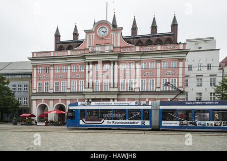 Town Hall, Rostock - Stock Photo