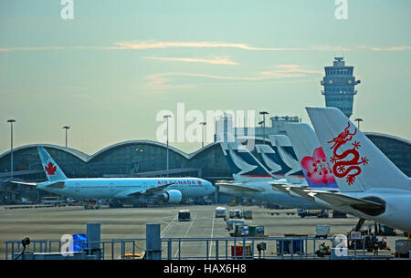 Hong Kong international airport China - Stock Photo