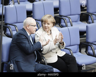 Government statemen at the German Parlament - Stock Photo