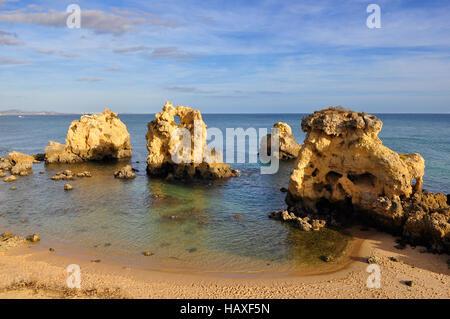 Beach in Algarve, Portugal - Stock Photo