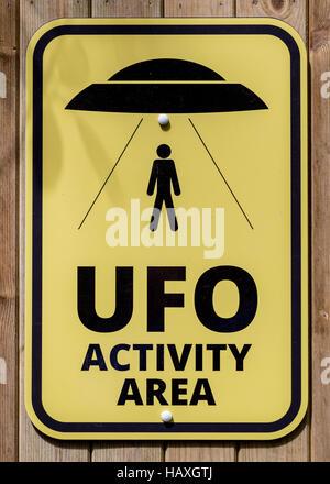 UFO Sign - Stock Photo