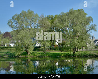 Herchen,River Sieg,Germany - Stock Photo