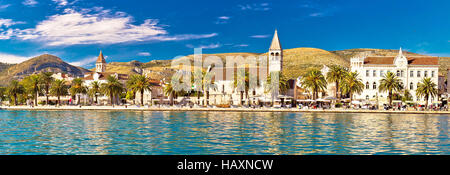 Trogir UNESCO world heritage site panoramic view in Dalmatia, Croatia - Stock Photo