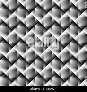 3d square mosaic seamless pattern. Vintage colorful texture with rainbow colors. Vector illustration. - Stock Photo