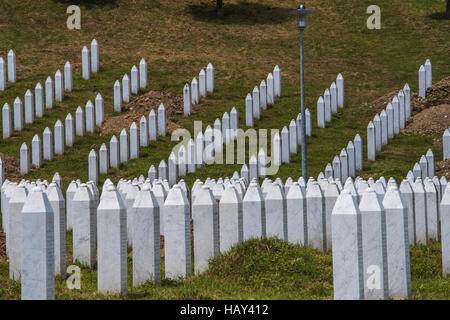 Srebrenica, Potocari Genocide Cemetery, Bosnia and Herzegovina, - Stock Photo