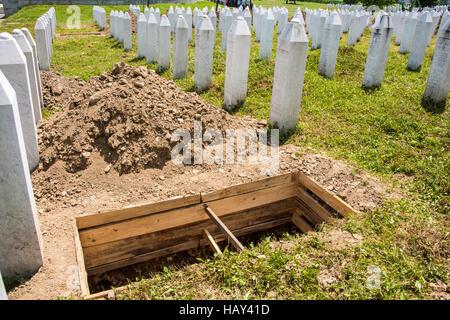 Srebrenica, Potocari Genocide Cemetery, Bosnia and Herzegovina, - Stock Photo