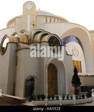 The Resurrection of Christ Orthodox Cathedral of Tirana. - Stock Photo