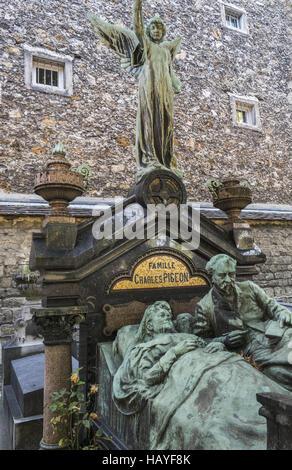 graveside, charles pigeon family - Stock Photo