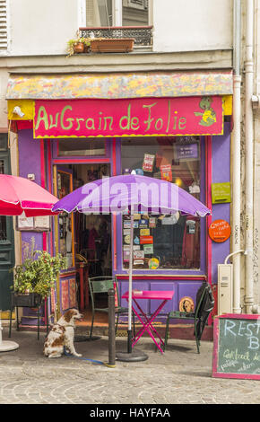 restaurant au grain de la folie - Stock Photo
