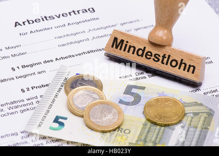 8,50 Euro minimum wages in Germany - Stock Photo