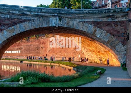 Toulouse. Bridge on river Garonne.France - Stock Photo