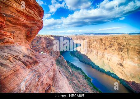 colorado viver flowing through grand canyon - Stock Photo