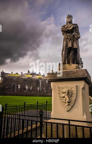 Statue of King Robert the Bruce outside Stirling Castle, Stirling, Scotland