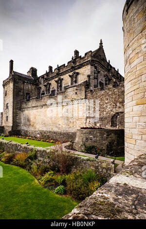 Wall Of Old Medieval Castle With Defensive Construction Stock ...