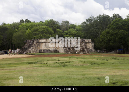 Venus Platform in Chichen Itza, Mexico - Stock Photo