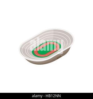 Track field stadium 3d icon - Stock Photo