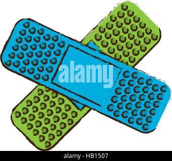 crossed bandages icon image vector illustration design - Stock Photo
