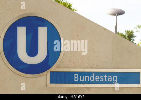 Metro Bundestag. Berlin - Stock Photo